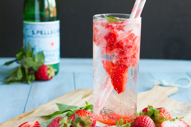 Summer Crush Strawberry Basil Keto Italian Lemonade