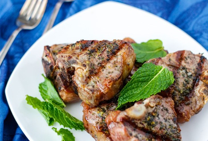 Lemon Mint Lamb Chops