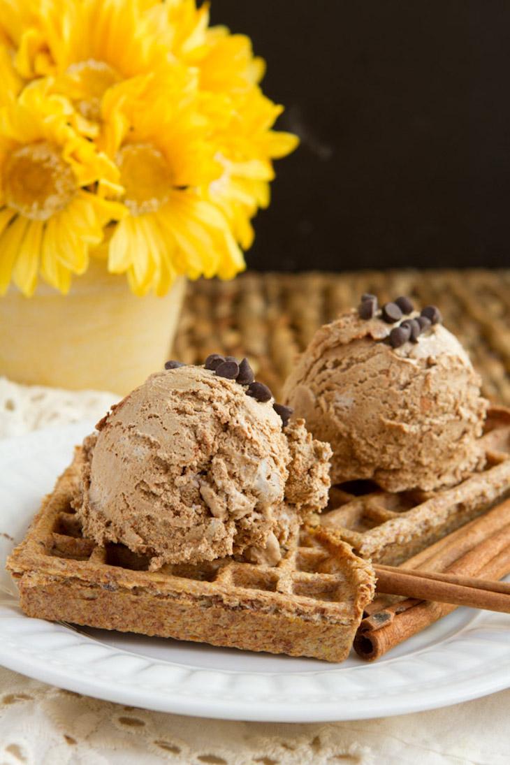 Keto Ice Cream Waffle Sandwiches