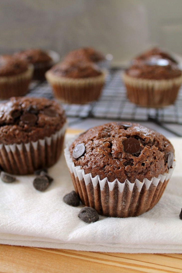 Bakery-Style Double Chocolate Muffins