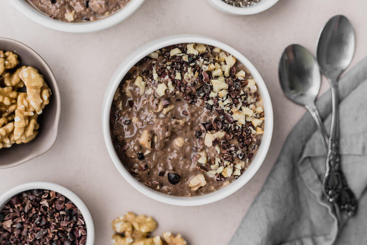 Double Chocolate Keto Overnight Oats for Breakfast