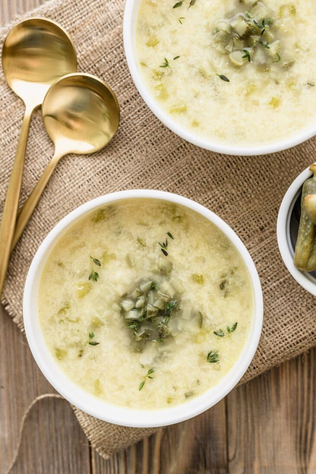 Keto Dill Pickle Soup