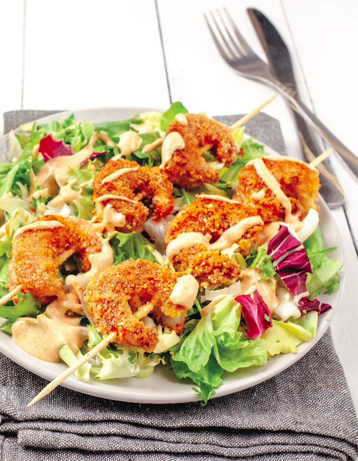 Breaded Shrimp Salad