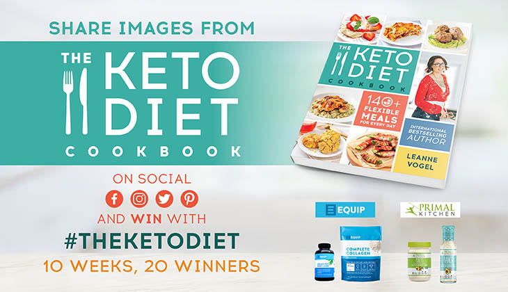 Win with The Keto Diet Cookbook!
