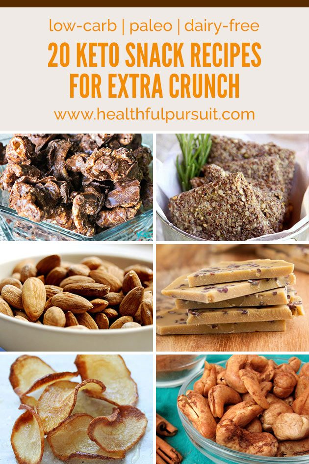 Crunchy Keto Snack Recipes #keto #lchf #paleo #healthysnacking