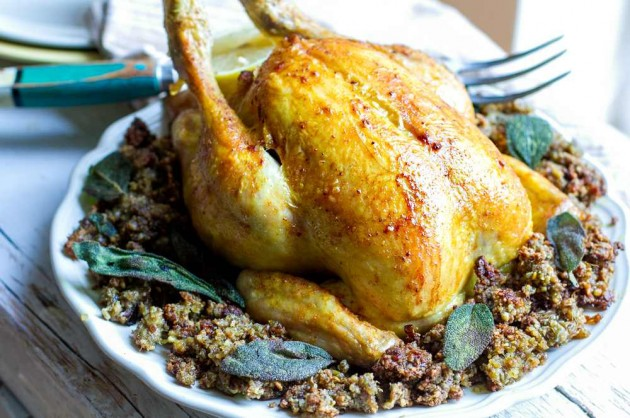 28- Roast Chicken With Inside Out Stuffing