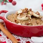 3-Ingredient Vegan Eggnog Quinoa Flake Bake