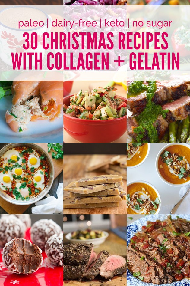 30 Christmas Recipes with Collagen and Gelatin #paleo #lowcarb #keto #christmas #gelatin #collagen