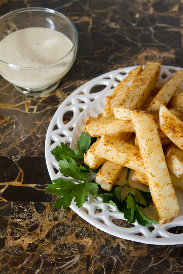 5-minute Jicama Fries #paleo #vegan #glutenfree