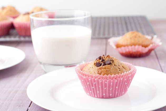 Good For You Chocolate Chip Muffins