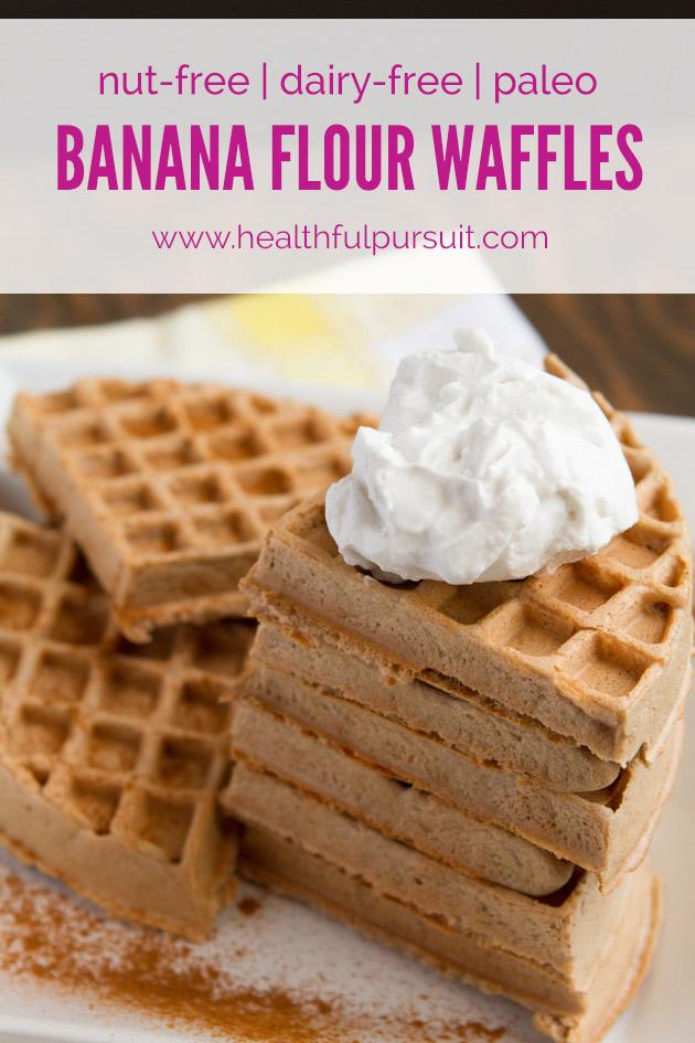 Banana Flour Waffles #nutfree #dairyfree #paleo #grainfree