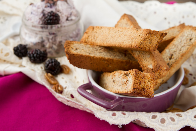 No Sugar Biscotti with Tart Ice Cream #grainfree #vegan #paleo