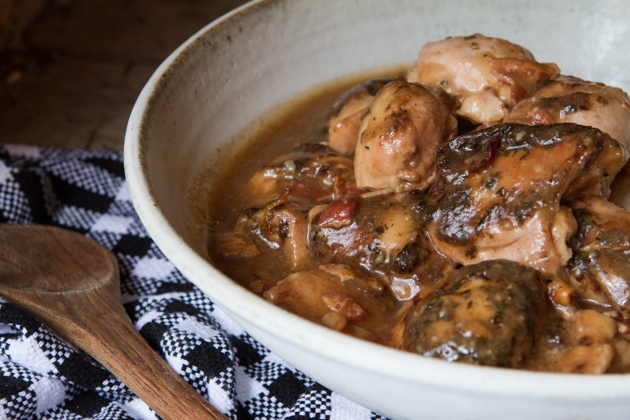 Beer and bacon chicken with gravy healthful pursuit for Cooking chicken thighs in crock pot