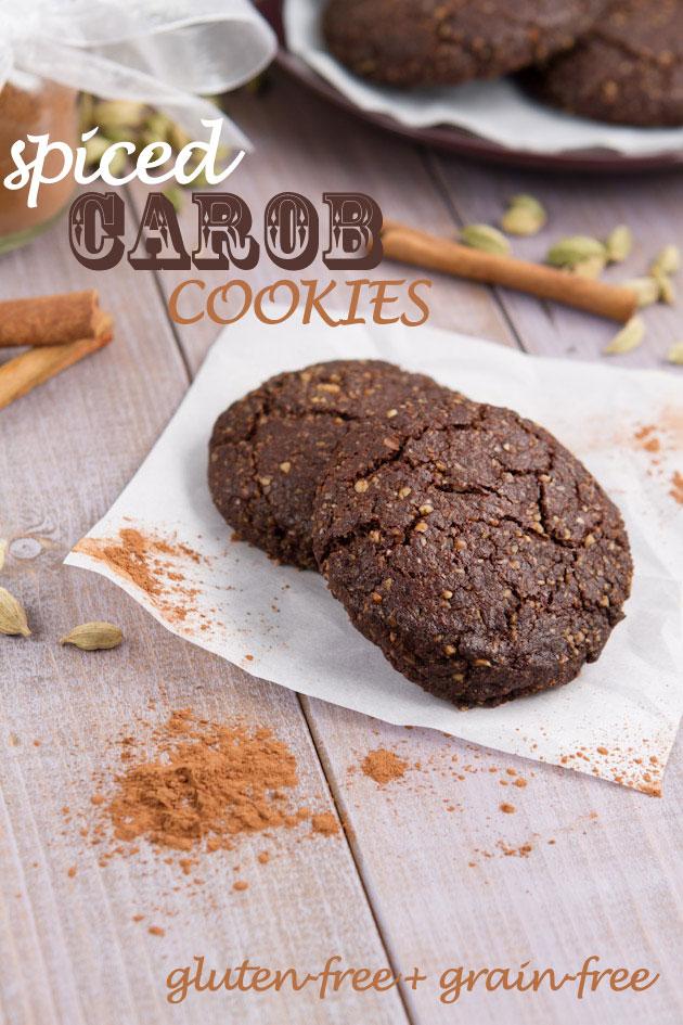 Spiced Carob Cookies (grain-free + vegan)