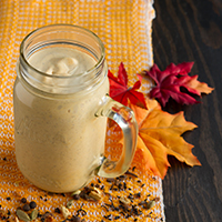 Chai-Infused Pumpkin Keto Smoothie #lowcarb #keto #vegan #paleo #nutfree #sugarfree #nonGMO
