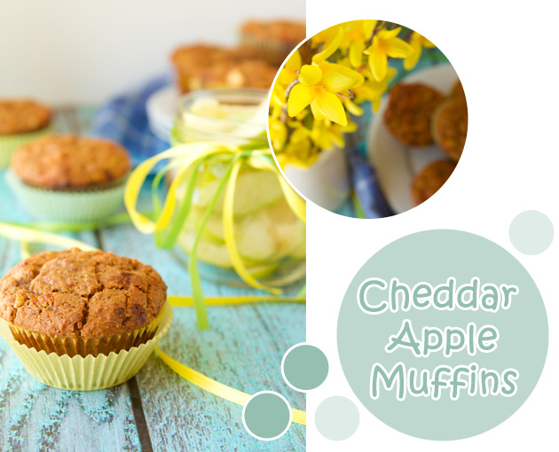 Cheddar Apple Muffins
