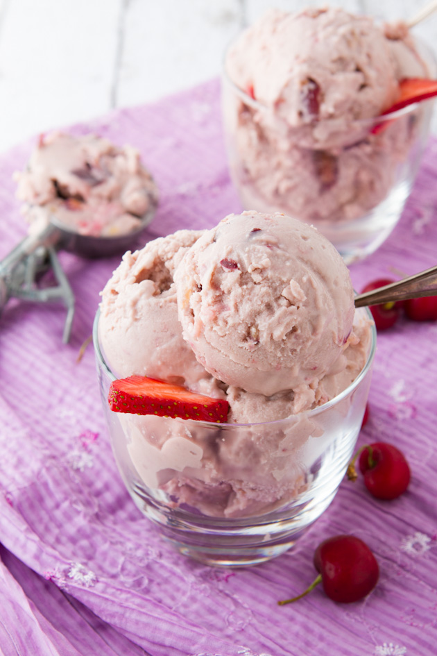 Cherry Chunk Protein Ice Cream