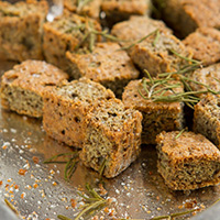 Low-Carb, Grain-free Chia Seed Croutons