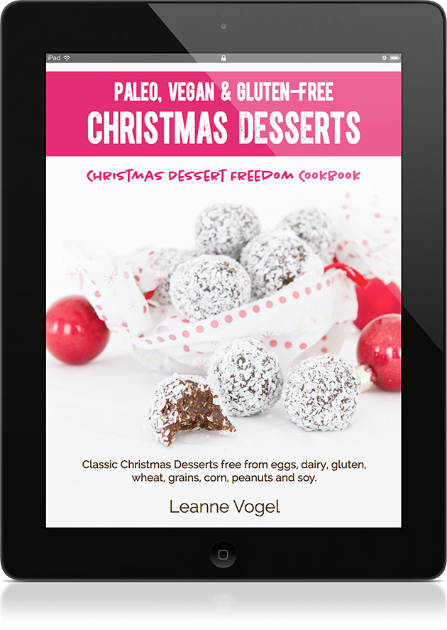 The new Christmas Dessert Freedom Cookbook! #paleo #glutenfree #vegan #dairyfree #wheatfree #christmas #desserts