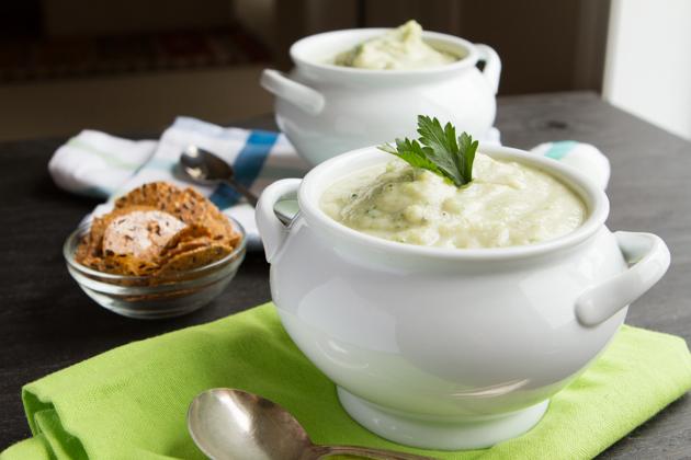 Vegan Cream of Broccoli Soup (Grain-free + Paleo)