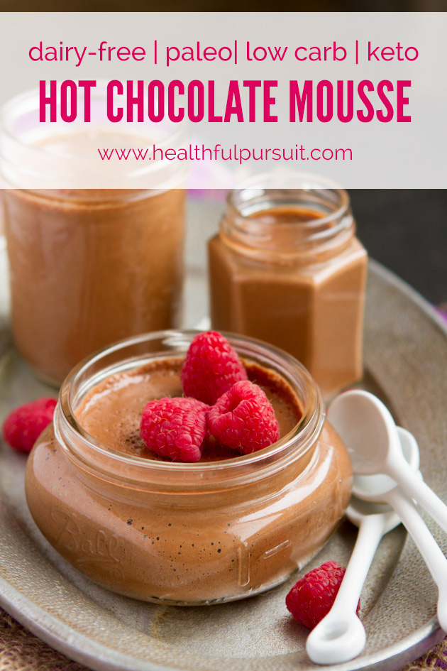Dairy-free Hot Chocolate Mousse #paleo #lowcarb #keto