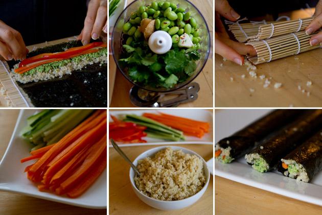 Vegan California Rolls with Edamame Pate