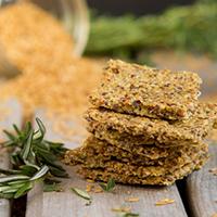 Egg-free! Roasted Herb Crackers #paleo #grainfree #glutenfree #eggfree #sugarfree #keto #lowcarb