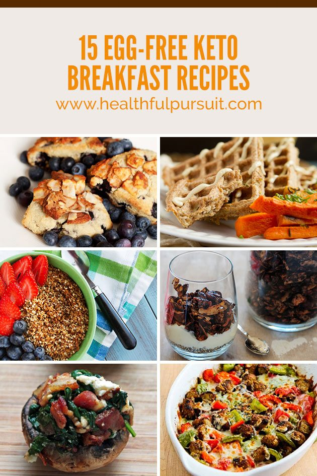 Egg-free, dairy-free, paleo, keto breakfast recipes! #keto #eggfreebreakfast #healthfulpursuit