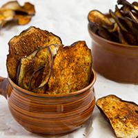 Crisp Eggplant Chips #keto #paleo #vegan
