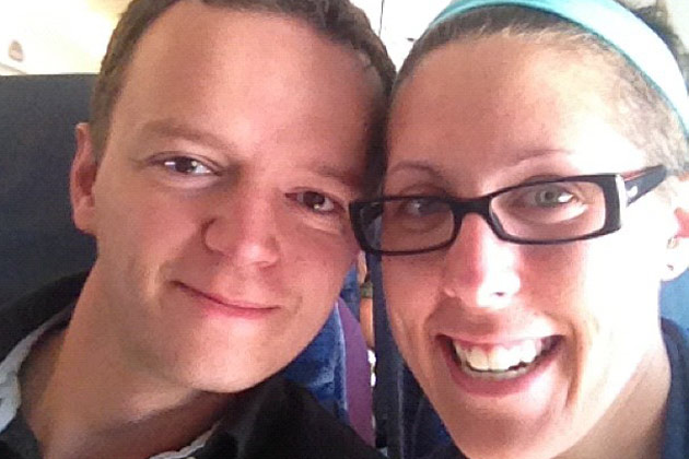 Leanne Vogel and Kevin Kraft on flight