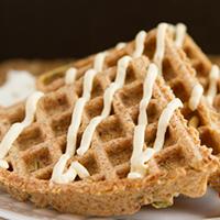 Flourless Crispy Flaxseed Waffles #grainfree #dairyfree #paleo #sugarfree #keto #lowcarb #vegan