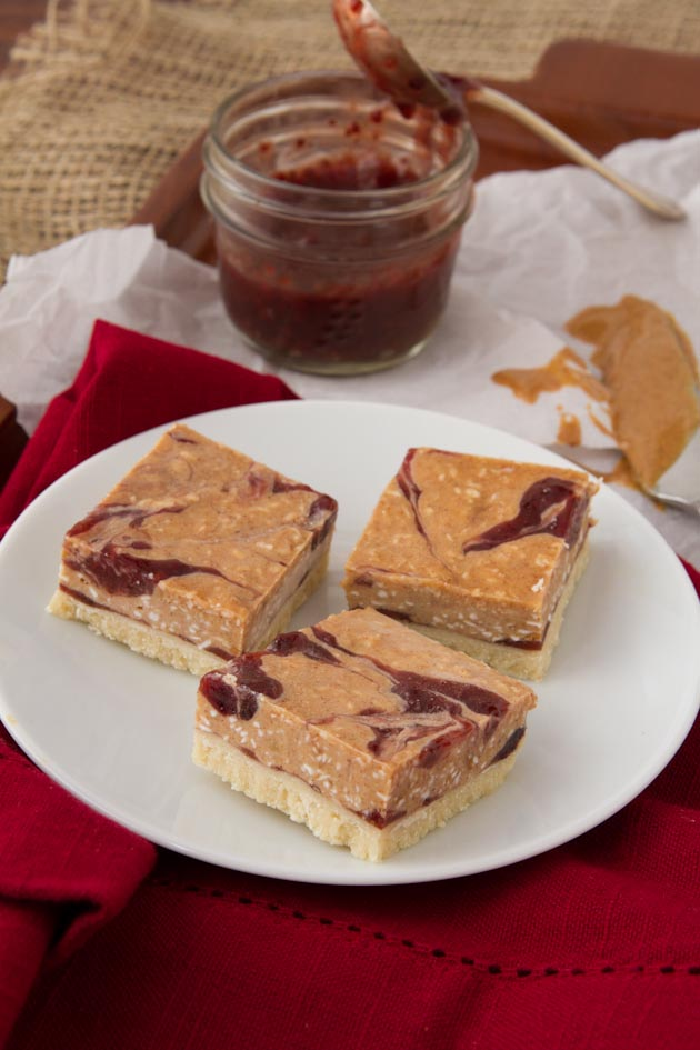 Frosty Jam Butter Squares
