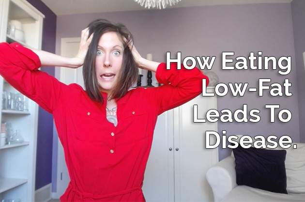 Video: Evidence That Eating Low-Fat Leads To Disease #highfat #lowcarb #paleo #lowfat #nutrition #health