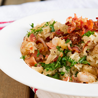 Grain-free Bacon and Shrimp Risotto #paleo #dairyfree #locarb #keto