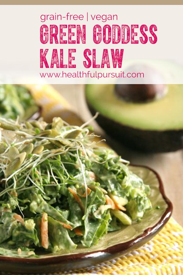 Green Goddess Kale Slaw #vibrantlifecleanse #salad #kale