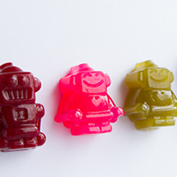 Homemade Robot Gummy Candy