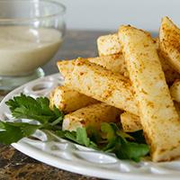 5-minute Jicama Fries #paleo #vegan #glutenfree