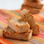 4-Ingredient Keto Cookie Bars #nutfree #sugarfree #grainfree #lowcarb #eggfree #dairyfree #vegan
