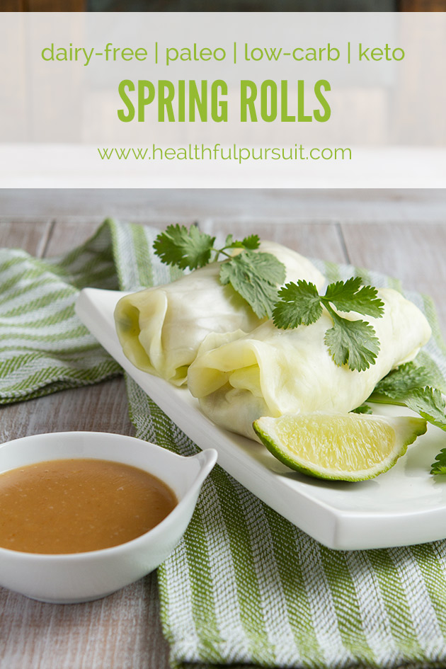 Low-Carb Spring Rolls with Ginger Dipping Sauce #lowcarb #keto #highfat #hflc #lchf