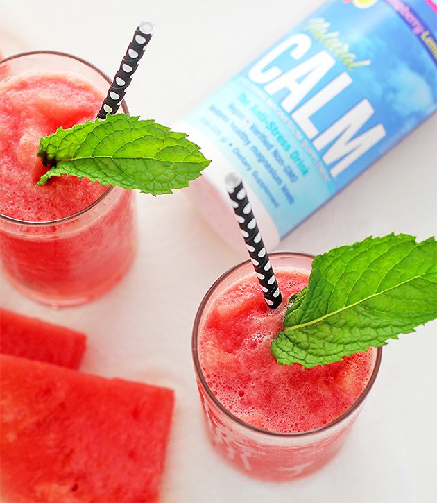 Calming Summer Slushie with Natural CALM #lowcarbsmoothie