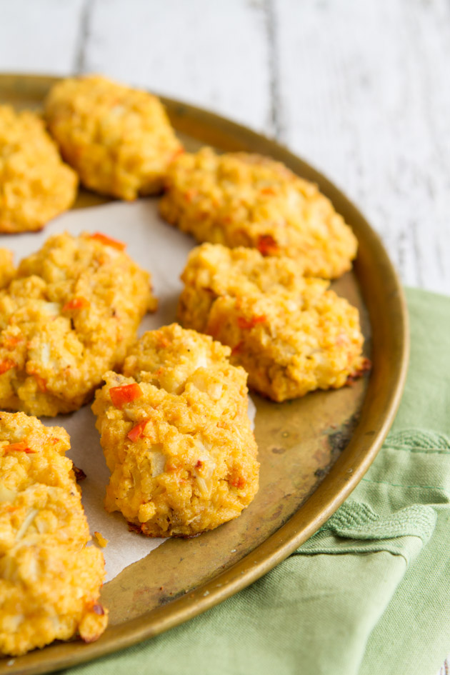 Dairy-free Nacho Cheese Cauliflower Tots