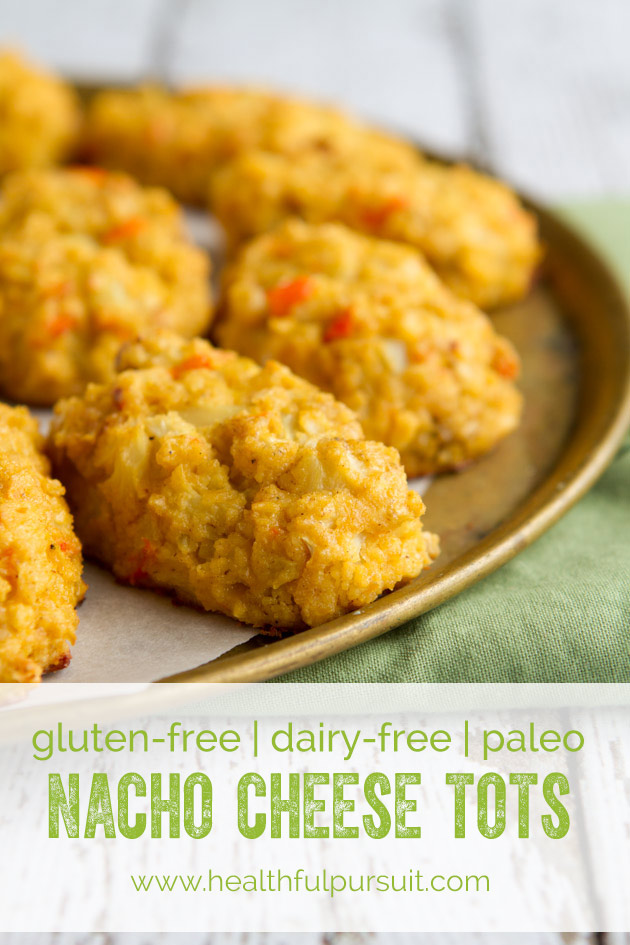 Nacho Cheese Cauliflower Tots #paleo #glutenfree