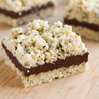 Keto No Bake N'oatmeal Fudge Bars #keto #lowcarb #nosugar #sugarfree #paleo #vegan #grainfree #nutfree
