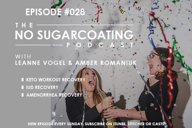 Keto Workout Recovery, IUDs, and Amenorrhea #nosugarcoatingpodcast
