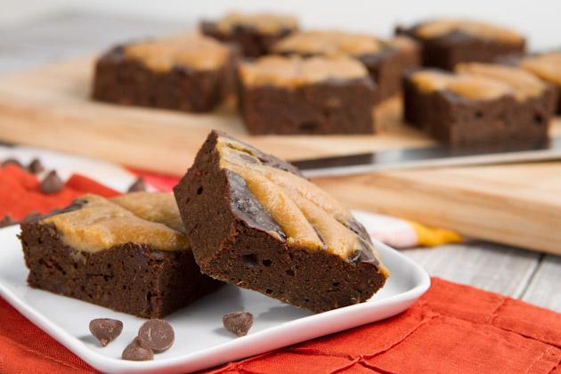 Oil-free Carob Swirl Brownies