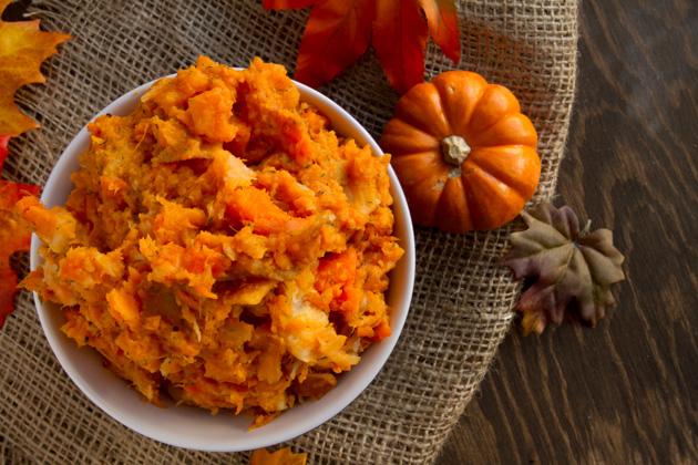 Oil-free Mashed Root Veggies #glutenfree #vegan #Thanksgiving #paleo #dairyfree #healthythanksgiving