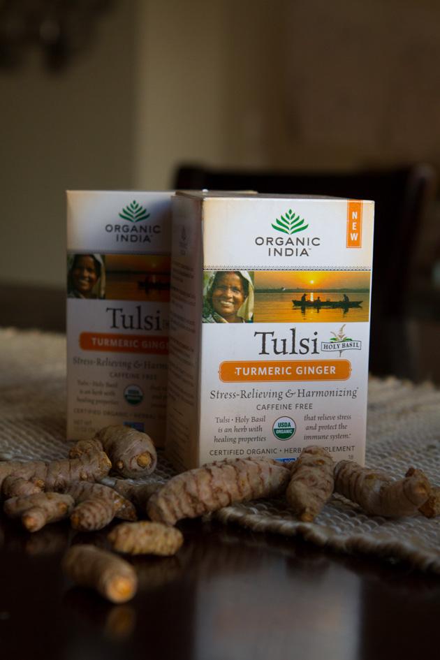 ORGANIC INDIA Tulsi Turmeric Ginger Tea #organic #herbaltea #herbalsupplement #vegan #keto #paleo #anti-inflammatory #digestion