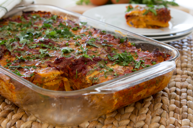 """Paleo Lasagna with Dairy-free Melty Cheese + Butternut Squash """"Noodles"""" (grain"""