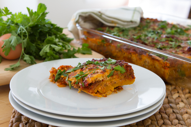 "Paleo Lasagna with Dairy-free Melty Cheese + Butternut Squash ""Noodles"" (grain-free + dairy-free)"