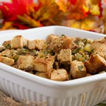 Paleo Low-Carb Keto Stuffing with Coconut Flour Bread Chunks